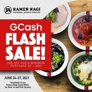 Ramen Nagi - GCash Flash Sale: Get 20% Off at Ayala Mall Branches