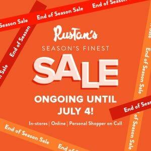 Rustan's - End of Season Sale