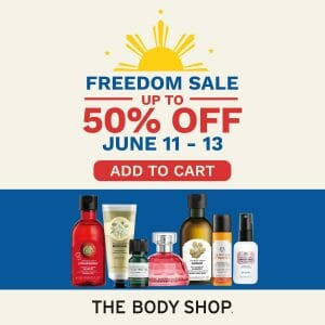 The Body Shop - Freedom Sale: Get Up to 50% Off