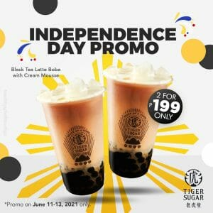 Tiger Sugar - Independence Day Promo: Get 2 for P199