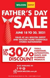Wilcon Depot - Father's Day Sale: Get Up to 30% Discount