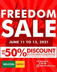 Wilcon Depot - Freedom Sale: Get Up to 50% Off
