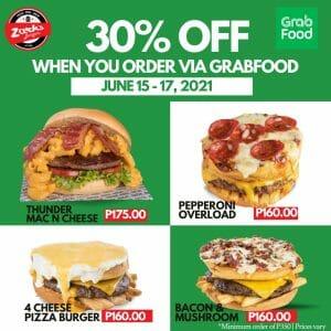 Zark's Burgers - Get 30% Off via GrabFood