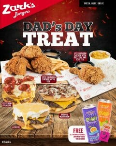 Zark's Burgers - Dad's Day Treat: Get FREE Juice Drinks and Hot Sauce