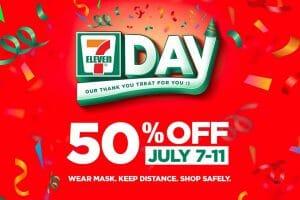 7 Eleven Day 50off promo Jul21