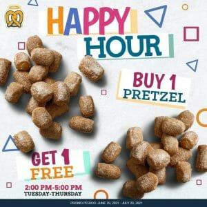 Auntie Anne's - Happy Hour: Buy 1 Get 1 Pretzel Promo