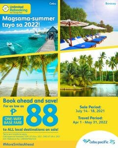 Cebu Pacific Air - Seat Sale: As Low As P88 to Local Destinations