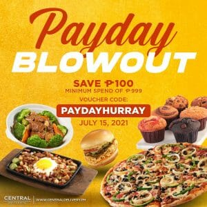 Central Delivery - Payday Blowout: Save P100 Promo