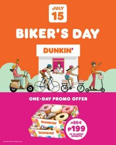 Dunkin Donuts - Biker's Day Promo for P199 (Was P264)