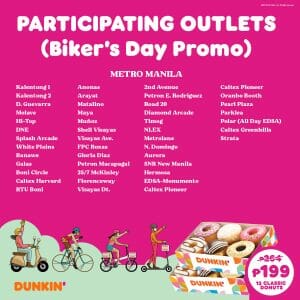 Dunkin Donuts Participating Outlets Jul21 0