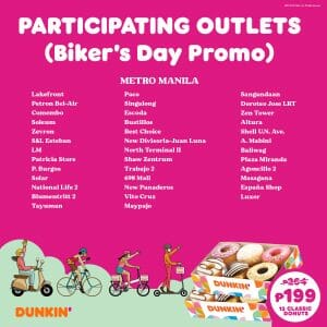 Dunkin Donuts Participating Outlets Jul21 2