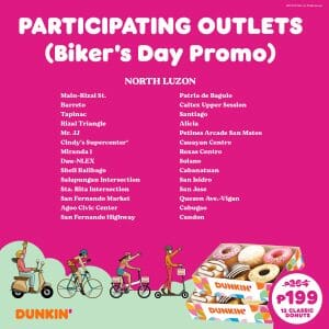 Dunkin Donuts Participating Outlets Jul21 3