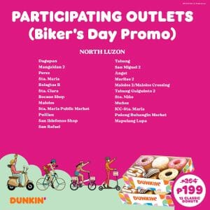 Dunkin Donuts Participating Outlets Jul21 4