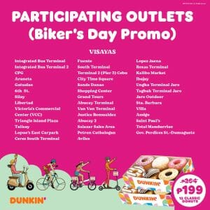 Dunkin Donuts Participating Outlets Jul21 6