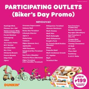 Dunkin Donuts Participating Outlets Jul21 7