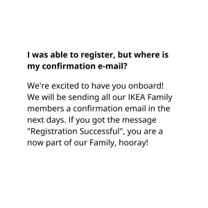Ask BJÖRN - Ikea Family Membership Sign-up Woes: Answers to Most FAQs