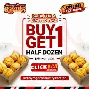 Kenny Rogers Roasters - Buy 1 Get 1 Half Dozen Corn Muffins