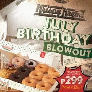Krispy Kreme - July Birthday Blowout Promo
