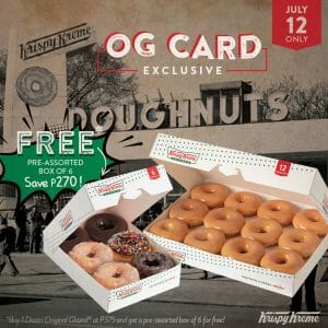 Krispy Kreme - OG Card Exclusive: Get FREE Pre-Assorted Box of 6