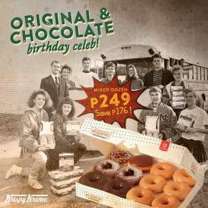 Krispy Kreme - World Chocolate Day Promo for P249 (Save P176)