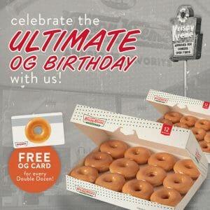 Krispy Kreme - Ultimate OG Birthday: Get a FREE OG Card