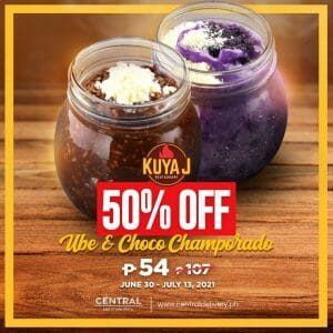 Kuya J Restaurant - Ube and Choco Champorado for P54 (Was P107) via Central Delivery