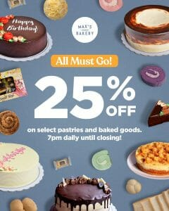 Max's Corner Bakery - Get 25% Off on Select Pastries and Baked Goods
