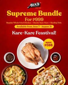 Max's Restaurant - Kare-Kare Supreme Bundle for P999