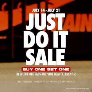 Nike Factory Store - Just Do It Sale: Buy 1 Get 1 Promo