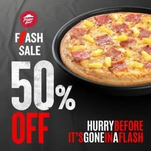Pizza Hut - 1-Day Flash Sale 50% Off Promo
