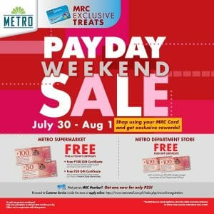 The Metro Stores - Payday Weekend Sale