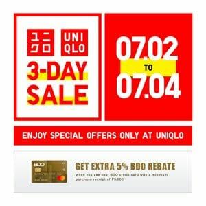 Uniqlo - 3-Day Sale