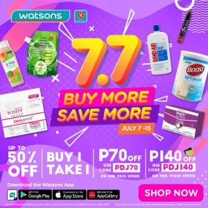 Watsons - 7.7 Buy More and Save More Promo