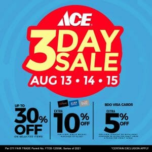 ACE Hardware - 3-Day Sale: Get Up to 30% Off