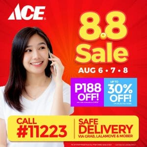 ACE Hardware - 8.8 Sale: Get Up to 30% Off and P188 Off