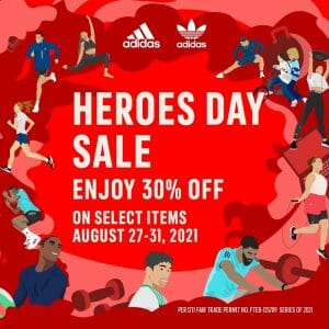 Adidas - Heroes Day Sale: Get 30% Off on Select Items