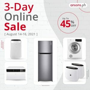 Ansons 3 Day Online Sale upto 45off Aug21