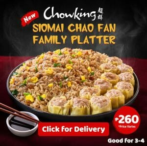 Chowking - Siomai Chao Fan Family Platter for P260