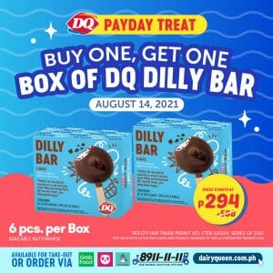 Dairy Queen - Payday Treat: Buy 1 Get 1 Box of DQ Dilly Bar