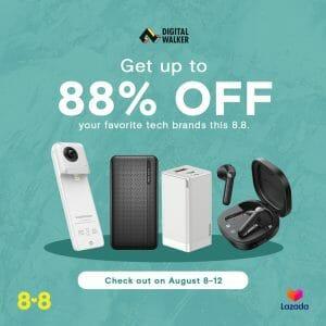 Digital Walker - 8.8 Sale: Get Up to 88% Off via Lazada