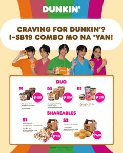 Dunkin Donuts - SB19 Duo and Shareables Combos Promo
