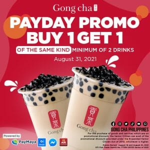 Gong cha - Buy 1 Get 1 Payday Promo