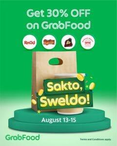 GrabFood - Sakto Sweldo Promo: Get 30% Off