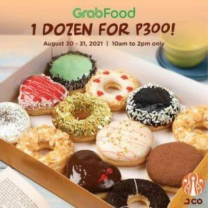 J.CO Donuts and Coffee - 1 Dozen for P300 Promo via GrabFood