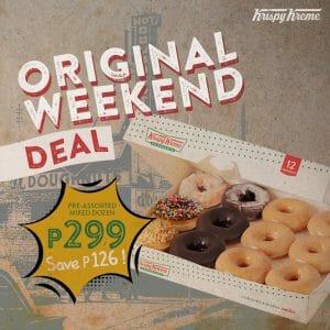 Krispy Kreme - August Original Weekend Deal for P299 (Save P126)