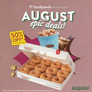 Krispy Kreme - August Epic Deals: Save As Much As P75 via Foodpanda