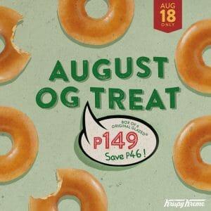 Krispy Kreme - August OG Treat for P149 (Save P46)