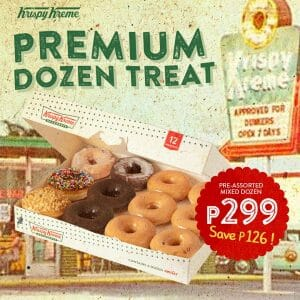 Krispy Kreme - August Premium Dozen Treat for P299 (Save P126)