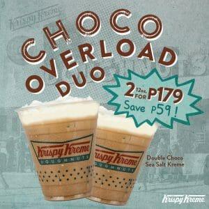 Krispy Kreme - Buy 2 Double Choco Sea Salt Kreme for P179 (Save P59)