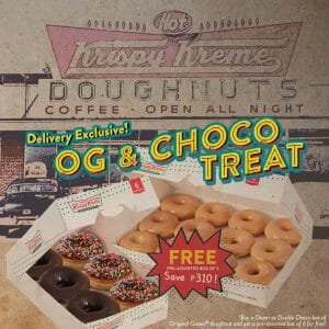 Krispy Kreme - Delivery Exclusive: OG and Choco Treat